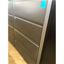 Dark Grey 4 Drawer Lateral File Cabinet