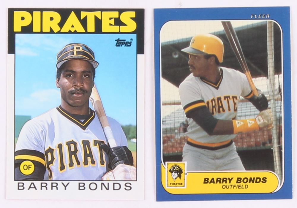 Lot Of 2 Barry Bonds Baseball Cards With 1986 Topps Traded 11t