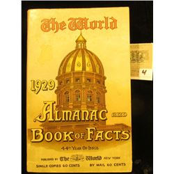 """The World 1929 Almanac and Book of Facts 44th Year of Issue"" published by The World New York."