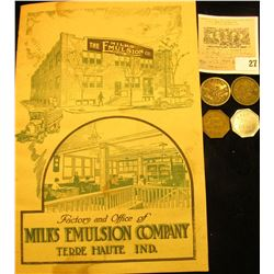 "Early Quack Doctor factory advertising brochure ""Factory and Office of Milks Emulsion Company Terre"