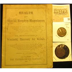 "1890 San Francisco The Warren-Brown Company booklet ""Health The Royal Road to Happiness…with Dr. Spr"