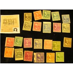 Set of Scott #803-31 Famous Americans Mint, not hinged. Missing only #803, 823, 830, & 831.