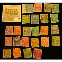 Set of Scott #803-31 Famous Americans Mint, not hinged. Missing only #803, 830, & 831.