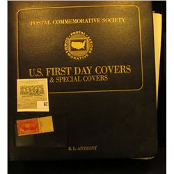 "Mint U.S. 1 Cent 1912 - 1913 Parcel Post Stamp; & a ""Postal Commemorative Society U.S. First Day Cov"