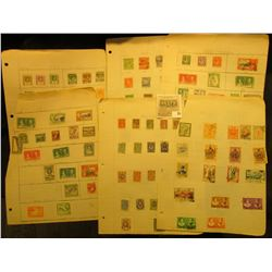 Large Group of Russia, Persia, and mixed Foreign Stamps on pages.