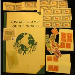 """Group of Thailand Stamps, hinges, and a """"Postage Stamps of the World"""" Album; 1943-44 Czechoslovakia"""