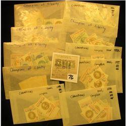 "(10) Complete Sets of Twenty ""Champions of Liberty"" U.S. Stamps."