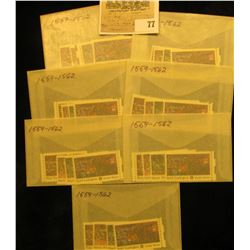 """(7) Complete Sets of """"Contribute to the Cause"""" Scott # 1559-1562 Stamps. All Mint."""