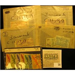 Mixed Group of Early U.S. Air Mail Stamps. Includes Scott C12, 17, 19, 25-31, 34, 35, & 36. All canc
