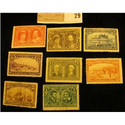 Complete Set of Canada Scott #96-103. (1908) Mint, Unused except a used One Cent. Doc had this set v
