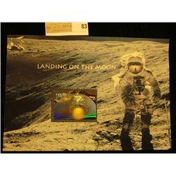 """""""Landing on the Moon"""" $11.75 Mint, unused Hologram Stamp."""