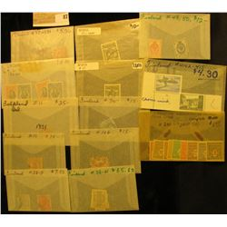 Nice selection of high value Foreign Stamps. Includes Ecuador, Finland, Epirus, & France. Doc had th