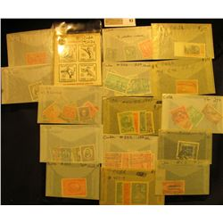 Group of higher value Stamps from Cuba. All attributed and priced to sell at over $30.00.