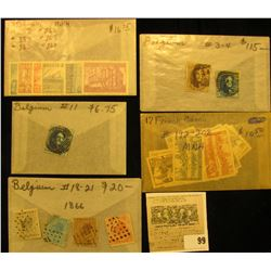 Group of higher value French Guiana & Belgium Stamps. All attributed and priced to sell at over $160