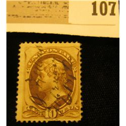 USA Scott #139 Jefferson Ten Cent Stamp. Cancelled. Cat $800. Please look at photos to make sure att