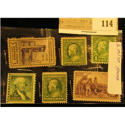 Package of six old U.S.A. mint condition stamps.