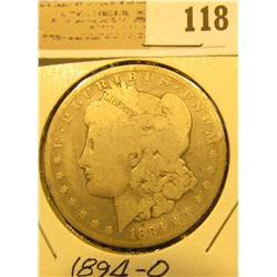 1894 O U.S. Silver Morgan Dollar.