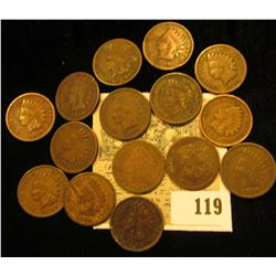(15) Old Indian Head Cents.