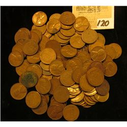 Pack of 118 Old U.S. Wheat Cents.