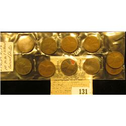 1910, 11, 19S, 20D, 27D, 28D, 29D, 30D, 34P, & D U.S. Wheat Cents. All Good dates.