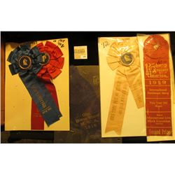"(5) Different early 1900 ""Iowa State Fair"" Equestrian related Award Ribbons."