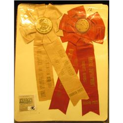 "(3) Different early 1900 ""Iowa State Fair"" Equestrian related Award Ribbons."