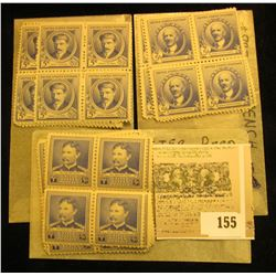 (8) Scott # 877 U.S.A. Blocks of Four, (Walter Reed) Mint;  (7) Scott # 882 U.S.A. Blocks of Four, (