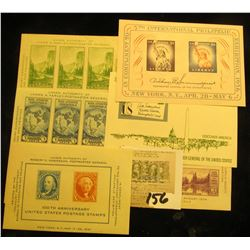 United States Scott 735, the 1934 Byrd Antarctic Souvenir Sheet Mint NH; US Mount Rainier Active Vol