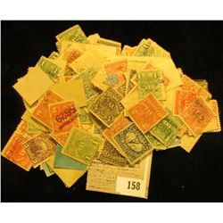 Large selection of late 1800 early 1900 Cigarette Tax Stamps, both mint and used as well as in vario