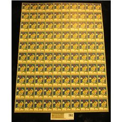 "Mint Sheet of 1944 ""Merry Christmas"" Stamps/Seals. World War II. National Tuberculosis Association."