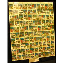 "Mint Sheet of 1975 ""Merry Christmas"" Stamps/Seals. National Tuberculosis Association. (100 stamps)"