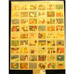 "Mint Sheet of 1979 ""Merry Christmas"" Stamps/Seals. American Lung Association. (54 stamps)"