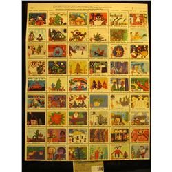 "Mint Sheet of 1980 ""Merry Christmas"" Stamps/Seals. American Lung Association. (54 stamps)"