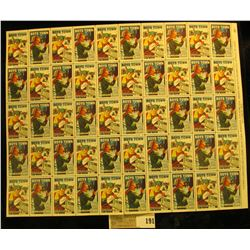 "Mint Sheet of 1971 ""Boys Town Nebraska"" Stamps. (50 stamps)."