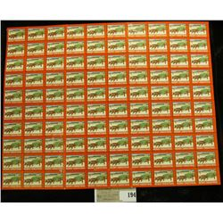 "Mint Sheet of 1947 ""Merry Christmas"" Stamps/Seals. National Tuberculosis Association. (100 stamps)"
