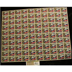 "Mint Sheet of 1949 ""Merry Christmas"" Stamps/Seals. National Tuberculosis Association. (100 stamps)"