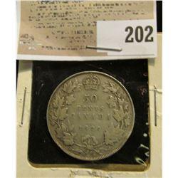 1929 Canada Silver Dollar.