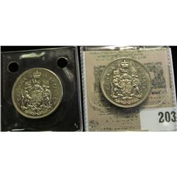 1968 & 1969 Canada Half Dollars. Brilliant Uncirculated.
