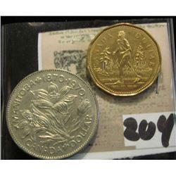 1970 & 2005 Canada Dollars. Brilliant Uncirculated.