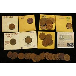 Large lot of Canada Cents, few in 1940's, mixed dates with duplicates, many 1967 Confederation Cente