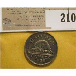 1938 Canada Nickel.