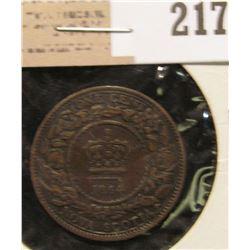 1864 Nova Scotia One Cent.