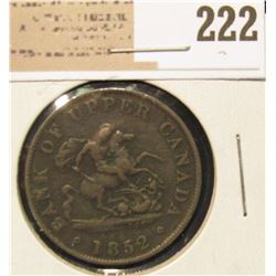 1852 Upper Canada Half Penny.