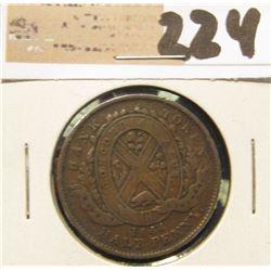 1844 Canada Half Penny.