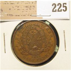 1837 Canada Half Penny, better condition.
