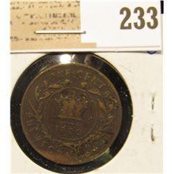 1880 Newfoundland One Cent, Fine15.