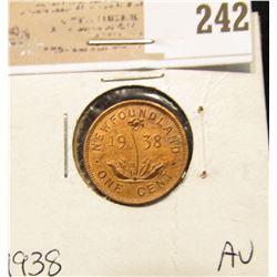 1938 Newfoundland One Cent, AU.