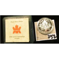 2000 Royal Canadian Mint Proof Voyage of Discovery Silver Dollar.