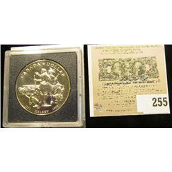 "1990 Royal Canadian Mint ""Kelsey"" Commemorative Silver Dollar, BU."
