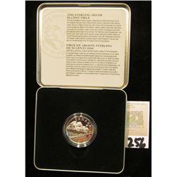 2000 Royal Canadian Mint Half Dollar Silver Equestrian design in metal case.